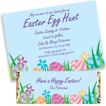 Easter Egg Hunt theme invitations and favors