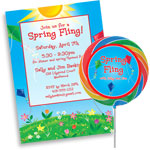 Kites theme invitations and favors