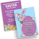 Easter theme invitations and favors