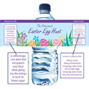Easter and spring theme water bottle labels