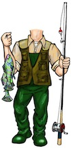 life size fisherman cutout