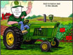 semi custom tractor theme invitation