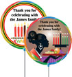 kwanzaa lollipop party favors, custom