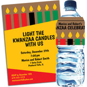 Kwanzaa kinara candles invitations and favors
