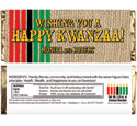 Kwanzaa party theme candy bar wrappers