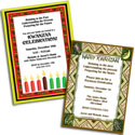 Kwanzaa theme invitations