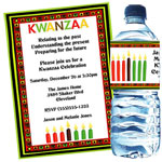 Kwanzaa kinara invitations and favors