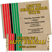 Kwanzaa party invitations and favors