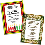 Kwanzaa invitations and favors