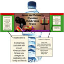 Kwanzaa Party theme water labels