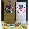 Custom Mardi Gras theme favor bags