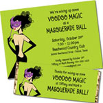 Mardi Gras Masks theme invitations and favors