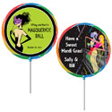 Custom Mardi Gras theme lollipops