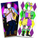 Custom Mardi Gras theme photo ops