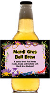personalized mardi gras beer bottle label