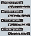 New Orleans Street Signs Party Decorations