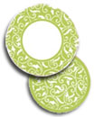 Green scroll paper goods