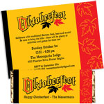 Oktoberfest festival theme invitations and favors