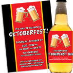 Oktoberfest flag theme invitations and favors