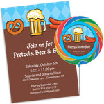 Oktoberfest food theme invitations and favors