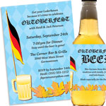 Oktoberfest party theme invitations and favors
