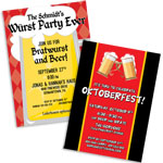 Oktoberfest theme invitations and favors