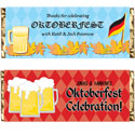 Oktoberfest party theme candy bar wrappers