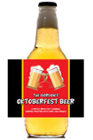 personalized oktoberfest beer bottle label