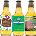 Super Bowl beer bottle labels