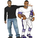 Super Bowl party cutouts