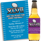 2013 Super Bowl XLVI Invitations and Favors