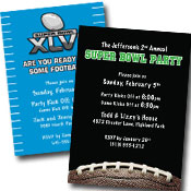 personalized super bowl party invitation