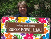 personalized luau football banner