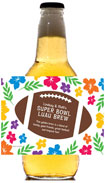 personalized luau football beer bottle label