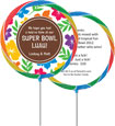 super bowl luau favors - custom lollipops
