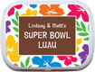 super bowl luau favors - mint and candy tins