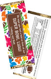 super bowl luau favors - candy bar wrappers