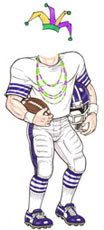 Mardi Gras football player cutout