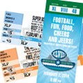 Super Bowl ticket invitations