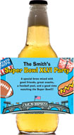 personalized super bowl beer bottle label