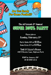 personalized super bowl invitation