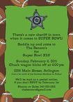custom texas style super bowl invitation