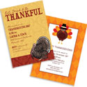 Thanksgiving theme invitations