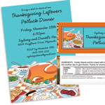 Thanksgiving potluck theme invitations and favors