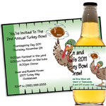 Thanksgiving Turkey Bowl invitations and favors