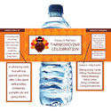 Thanksgiving theme water labels