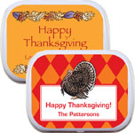 Custom Thanksgiving Mint Tins and Candy Favors
