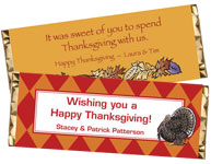 Custom Thanksgiving Candy Bar Party Favors