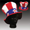 patriotic sequin top hat