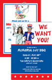 personalized patriotic invitation